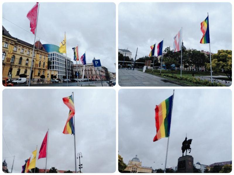 Na zagrebačkim trgovima podignute LGBTIQ zastave